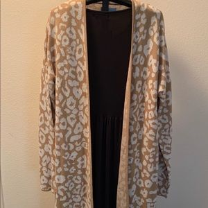 NWT SWEATER COAT